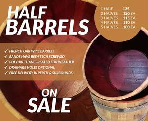 French Oak Half Wine Barrels for Sale Perth Perth City Area Preview