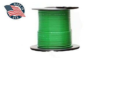 50ft Mil-spec High Temperature Wire Cable 22 Gauge Green Tefzel M2275916-22-5