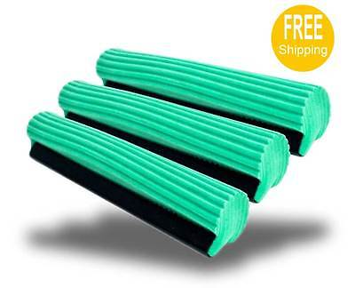 Replacement Cleaning Head - 3  PVA Sponge Foam Rubber Mop Head Refill Replacement Home Floor Cleaning