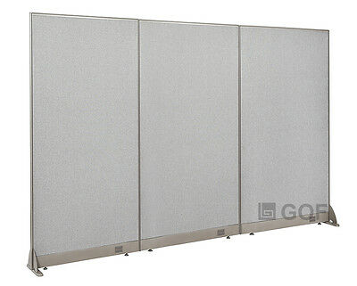 """GOF Office Freestanding Partition 90""""W x 72""""H / Office Divider"""