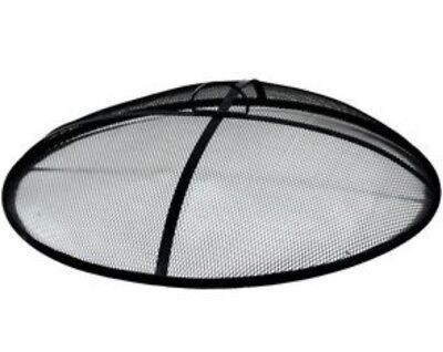 "Heavy Duty 31"" Round Fire Pit Spark Screen Burn Ring Cover Safety Steel Mesh Lid"
