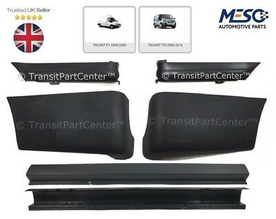 REAR BUMPER COVER  FOUR CORNER END CAPS FOR FORD TRANSIT MK6 MK7 2006 2014
