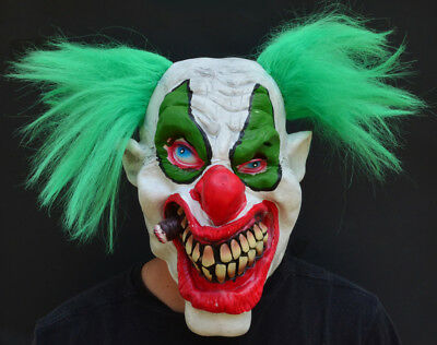 Crazy Halloween Masks (Crazy Halloween Killer Clown Costume Mask Latex PUFF PUFF)
