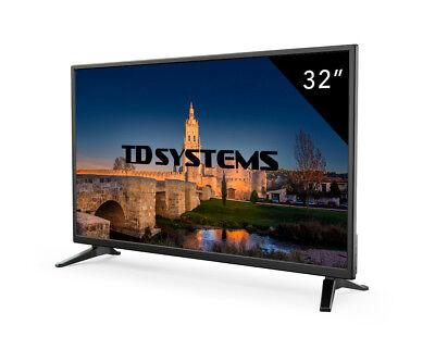Televisor Led HD 32 Pulgadas TD Systems K32DLM7H. 3x HDMI, 2x USB, VGA