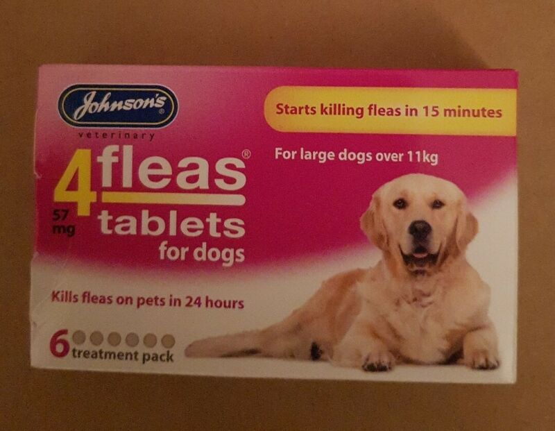 Johnson 4 fleas 57 mg tablets for dogs 6 treatment pack