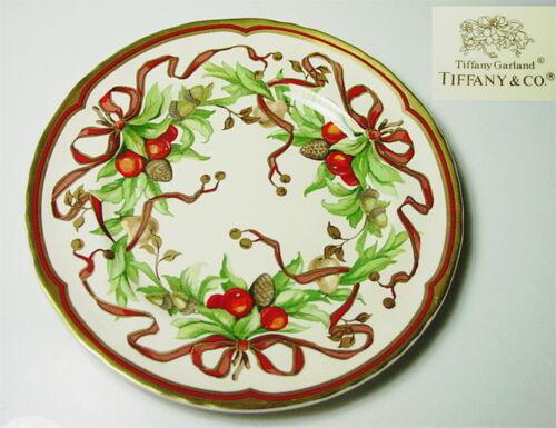 Tiffany & Co. TIFFANY GARLAND Dinner Plate, Cream Color/England - MINT!