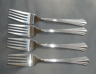 Set of 4 International Stainless Symmetry 4 Salad Forks 7 (Stainless Symmetry)