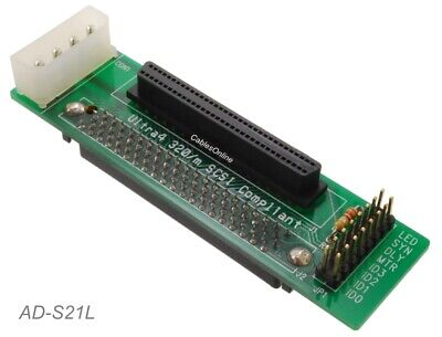 SCSI Compliant 540-106-np-rh SCA 80pin to HD68F SCA to U320 SCSI Adapter