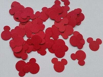 """Confetti - 100 Red Mickey Minnie Mouse Head Birthday Party Shower 1"""""""