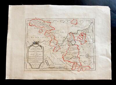 Antique Map Sigmaringen Ravensburg Biberach Book Collection Forest Lake 1770