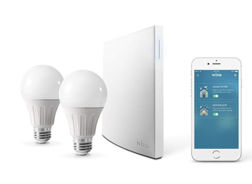 WinK Hub 2 With Two Smart  Bulbs.- New, sealed in box. WNKHUB-2US.