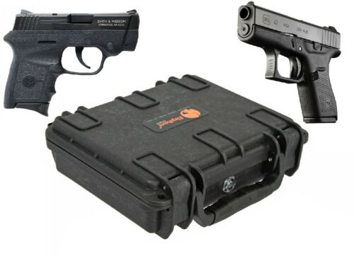 Elephant Handgun Hard Case waterproof for Glock 42 Smith & Wesson Bodyguard 380