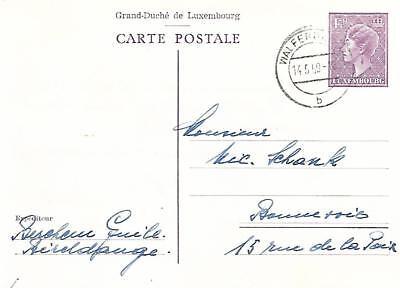 LUXEMBOURG 1.50f POSTAL STATIONERY POSTCARD 1959    MY REF 1695