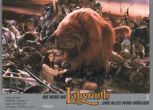 "Jennifer Connelly ""Die Reise ins Labyrinth"" Autogramm signed A4 Kinobild"