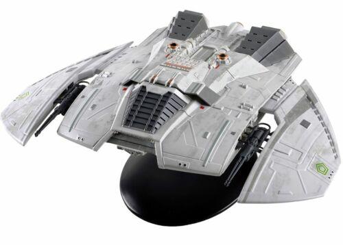 Eaglemoss Hero Battlestar Galactica Cylon Raider Blood & Chrome Fighter w/ magaz