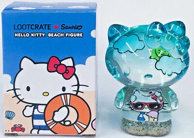 Sanrio Hello Kitty Beach Figure Transluscent Loot Crate exclusive NIB figurine