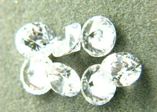 White Round CUBIC ZIRCONIA Loose AAA  CZ lots 1 - 20mm  CZ  - USA Seller