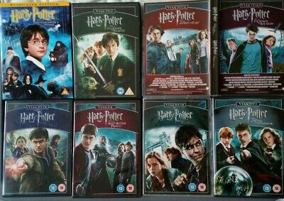 Harry Potter Complete Collection: Years 1,2,3,4,5,6,7,7B (8 Movie DVD Box Set)