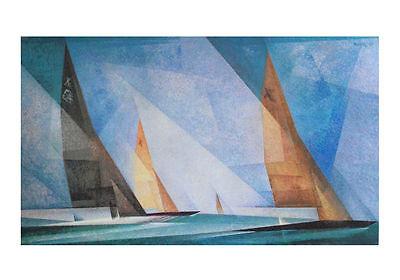 Lyonel Feininger Segelboote Poster Kunstdruck Bild 50x70 cm Kostenloser Versand