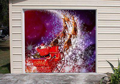 Christmas Decor Apart Car Garage Door Cover Order for amacdo GD108