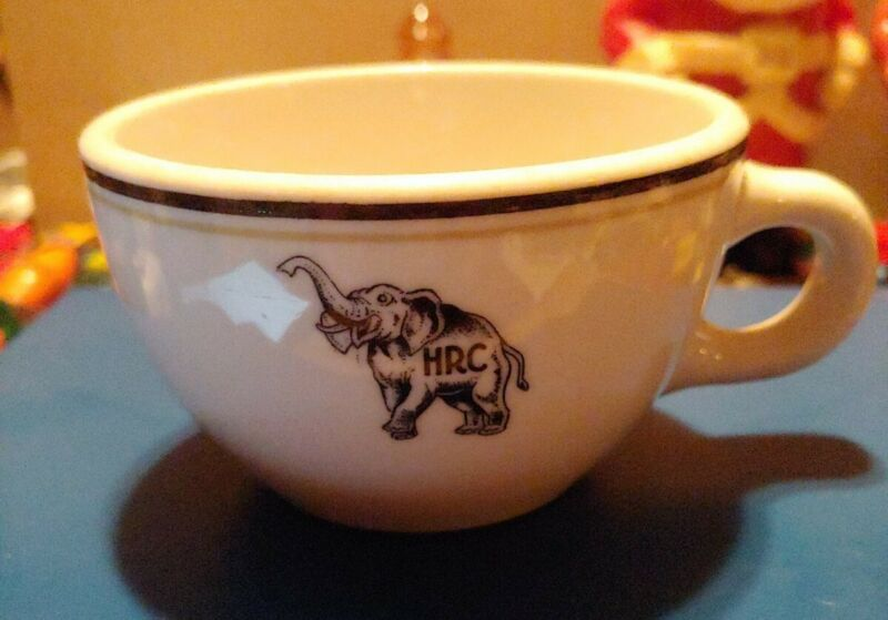 Vintage Shenango China Coffee Cup Restaurant Ware? With Elephant & initials HRC