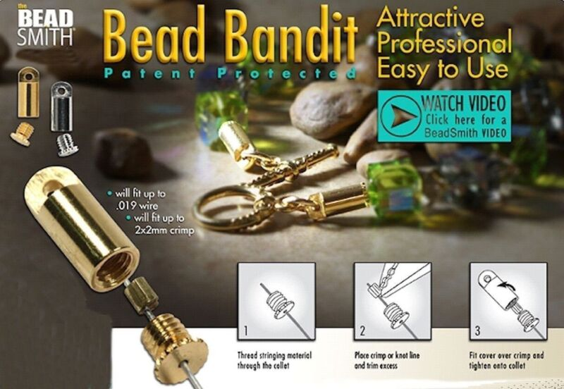 2 OR 36 Silver OR Gold Plated Bead Smith Bead Bandits to Hide Crimp Bead OR Knot
