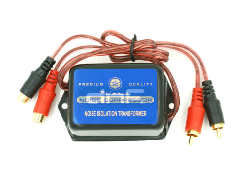 2 CHANNEL CAR HOME STEREO AUDIO GROUND LOOP ISOLATOR NOISE SUPPRESSOR FILTER RCA