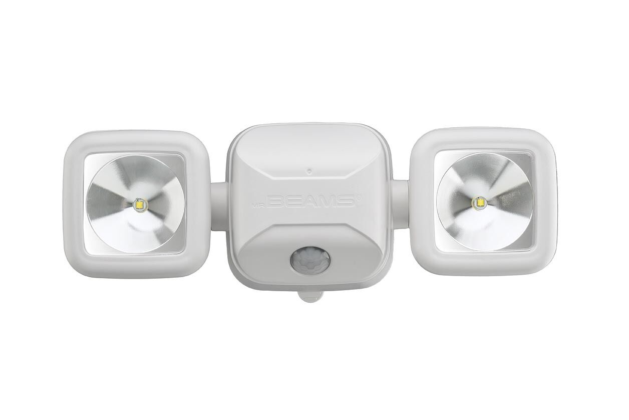Mr Beams MB3000 High Performance LED Security Light Motion-Sensing Battery Pwr-W