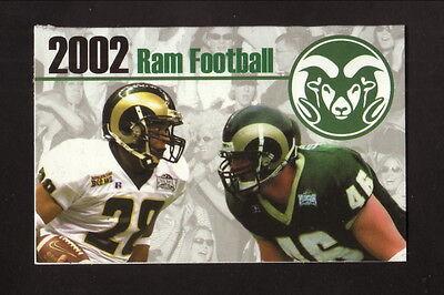 Colorado State Rams--2002 Football Pocket Schedule--Signs Now/Coors (Colorado State Rams Pocket)