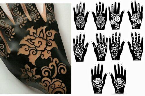 Henna Stencil Tattoo (10 Sheets) Hands Self-Adhesive Body Art Templates