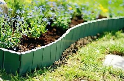 Plastic Garden Fence 5,8m Boarder Lawn Palisade Edge Patio Fencing GREEN KRR