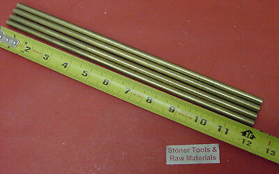 4 Pieces 14 C360 Brass Solid Round Rod 12 Long H02 Lathe Bar Stock .25