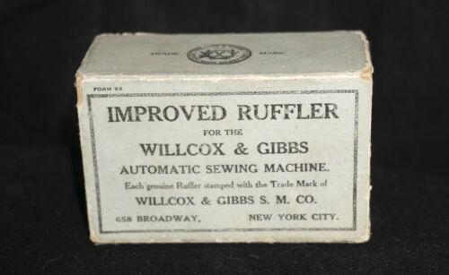 Wilcox & Gibbs - Machine Improved Ruffler -w Original Box & Instructions  NICE