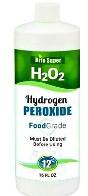 H2O2-Hydrogen Peroxide Food Grade 12% From 35% 16 fl ozl! FREE PRIORITY SHIPPING