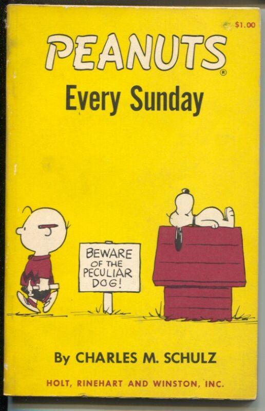 Peanuts Every Sunday 1968-Charles Schulz art-reprints Peanuts Sunday strips-V...