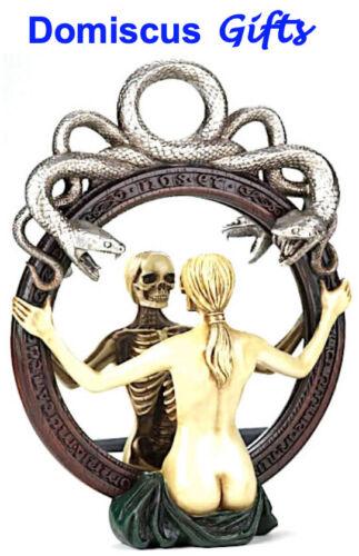 """16"""" NEW! Alchemy SPECULUM MIRROR Skeleton SERPENT Gothic FANTASY COLLECTIBLE"""