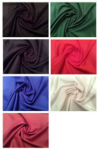 Plain-PolyCotton-Gaberdine-Fabric-150cm-59-Wide-7-Colours-Dress-Fabric