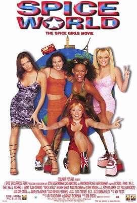 """SPICE GIRLS - SPICE WORLD POSTER - 1997 - (16"""" x 20.5"""") DOUBLE-SIDED - UNOPENED"""