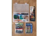 Selection of Course Fishing tackle in box