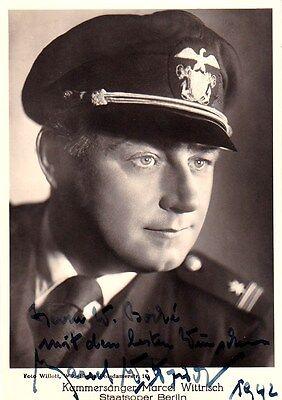 MARCEL WITTRISCH opera tenor signed photo as Pinkerton, 1942