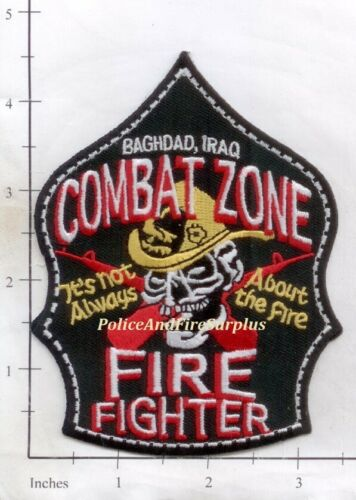 Iraq - Baghdad Combat Zone Fire Fighter Fire Dept Patch