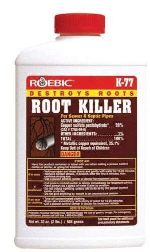 NEW ROEBIC K-77 32OZ SEWER & SEPTIC PLUMBING LINE ROOT KILLER WORKS!!  9599648