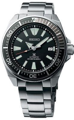 New Seiko Automatic Prospex Samurai Divers 200M Mens Steel Bracelet Watch SRPB51