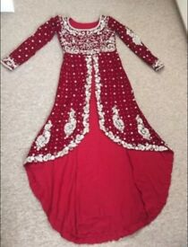 Bride Asian wedding lengha dress