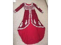 Bride Asian wedding lengha dress
