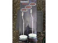 Two Goodmans home cinema speaker stands