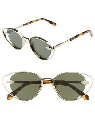 Karen Walker Kissy Kissy Women Sunglasses   Gold, Green Lenses Metal, $350 RRP