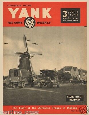 5 New Postcards, 1944 YANK - Operation Market Garden Paratroopers in Holland