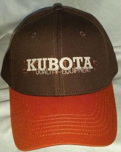 #317 Sample Kubota Dark Brown & Orange Quality Equipment Adjus Back Cap/Hat-NWOT