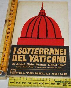 GIDE-Andre-I-SOTTERRANEI-DEL-VATICANO-UE-Feltrinelli-libri-usati